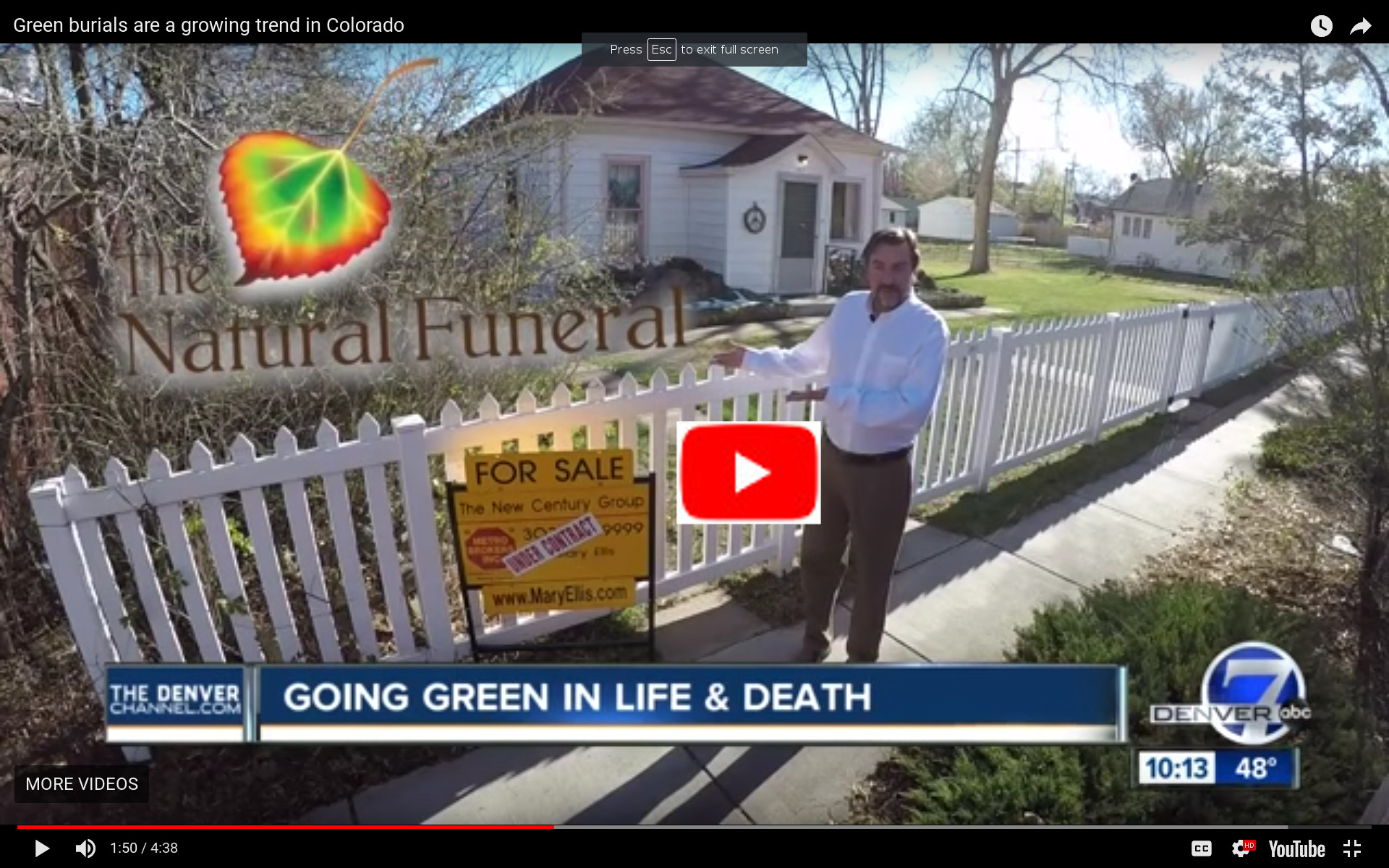 The Natural Funeral Video Link